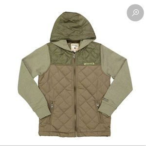 BNWT Triple Five Soul boys quilted zip up. Size 12